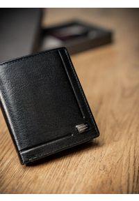 ROVICKY - Portfel męski skórzany RFID Rovicky czarny. Kolor: czarny. Materiał: skóra