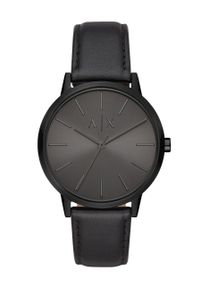 Armani Exchange - Zegarek AX2705. Kolor: czarny. Materiał: skóra, materiał