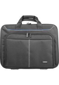 Czarna torba na laptopa NATEC w kolorowe wzory, biznesowa
