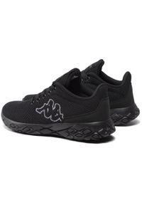 Kappa - Sneakersy KAPPA - Pauto Oc 242855OC Black/Grey 1116. Okazja: na co dzień. Kolor: czarny. Materiał: materiał. Szerokość cholewki: normalna. Sezon: lato. Styl: casual