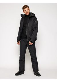 Czarna kurtka sportowa EA7 Emporio Armani narciarska