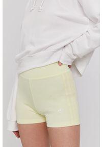 Żółte szorty adidas Originals sportowe, gładkie, na co dzień