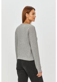 Pinko - Bluza bawełniana. Okazja: na co dzień. Kolor: szary. Materiał: bawełna. Długość rękawa: długi rękaw. Długość: długie. Wzór: nadruk. Styl: casual