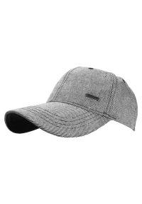 Czarna czapka Pako Jeans na lato, w prążki