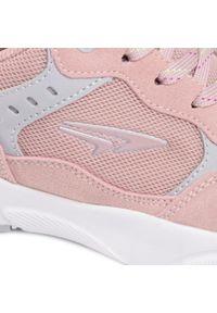Różowe buty sportowe Sprandi na co dzień, z cholewką