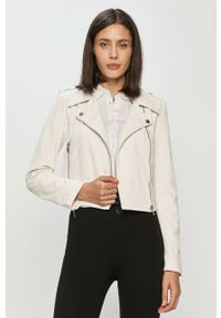 Biała kurtka Guess gładkie, klasyczna