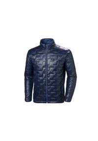 Niebieska kurtka Helly Hansen w kolorowe wzory