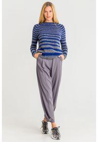 Sweter Sportmax Code na spacer, z długim rękawem, krótki