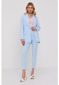 Nissa - NISSA - Marynarka. Okazja: na co dzień. Kolor: niebieski. Materiał: tkanina. Wzór: gładki. Styl: klasyczny, casual