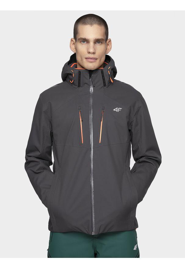 Szara kurtka narciarska 4f na zimę, Dermizax