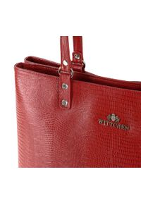 Czerwona shopperka Wittchen elegancka