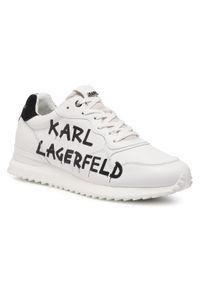Białe półbuty Karl Lagerfeld na co dzień, casualowe, z cholewką
