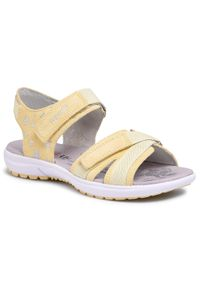 Żółte sandały Superfit na lato, z aplikacjami