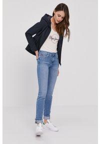 Pepe Jeans - T-shirt Blanche. Okazja: na co dzień. Kolor: biały. Materiał: dzianina. Wzór: nadruk. Styl: casual