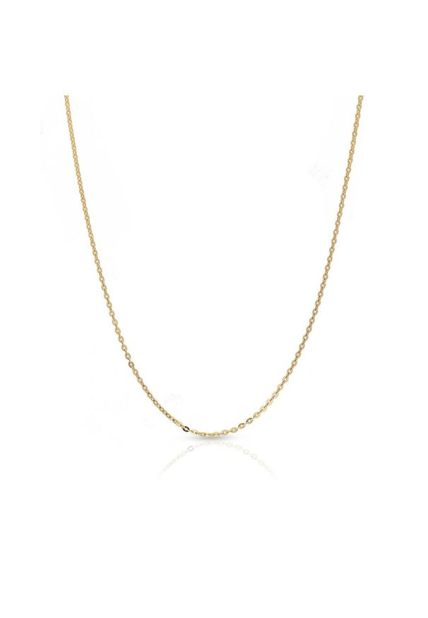 W.KRUK Wspaniały Łańcuszek Złoty - złoto 375 - ZUN/LA401. Materiał: złote. Kolor: złoty. Wzór: ze splotem