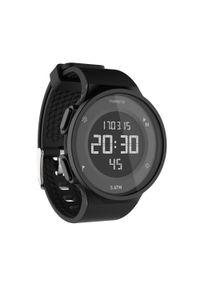 KALENJI - Zegarek do biegania W500 M reverse czarny. Rodzaj zegarka: cyfrowe. Kolor: czarny