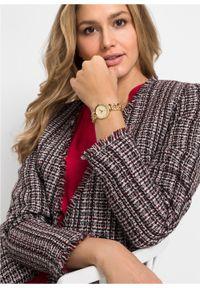 Złoty zegarek bonprix analogowy, glamour