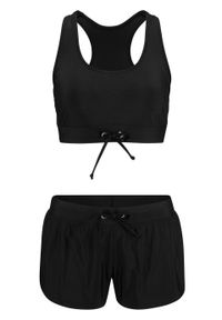 Czarny strój kąpielowy dwuczęściowy bonprix