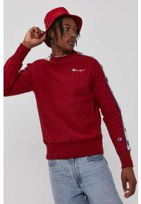 Champion - Bluza. Kolor: czerwony. Materiał: dzianina. Długość rękawa: raglanowy rękaw. Wzór: gładki, aplikacja