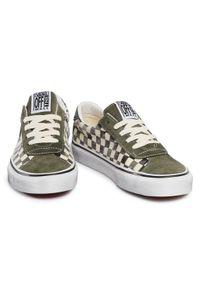 Zielone buty sportowe Vans na co dzień, z cholewką