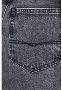Pepe Jeans - Spódnica jeansowa Piper. Stan: podwyższony. Kolor: szary. Materiał: włókno, denim