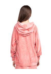 ROBERT KUPISZ - Różowa bluza z logo Kids Velvet. Typ kołnierza: kaptur. Kolor: różowy, wielokolorowy, fioletowy. Materiał: tkanina. Wzór: aplikacja