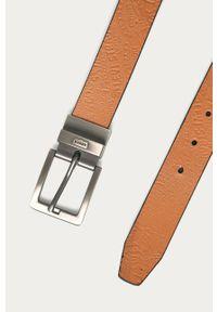 Brązowy pasek Levi's® w kolorowe wzory, biznesowy