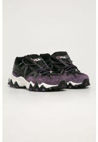 Fioletowe buty sportowe Fila na sznurówki, z cholewką