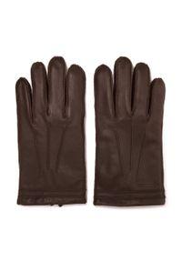 Brązowe rękawiczki Wittchen casualowe