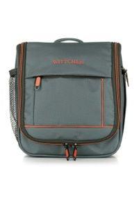 Wittchen - Kosmetyczka podróżna miękka basic. Kolor: pomarańczowy, wielokolorowy, szary. Materiał: poliester