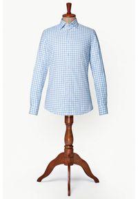 Lancerto - Koszula w Kratę Clyde. Typ kołnierza: button down. Materiał: tkanina, bawełna. Wzór: kratka. Sezon: jesień, zima. Styl: vintage