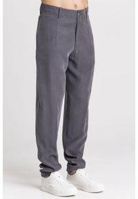 Szare spodnie Emporio Armani