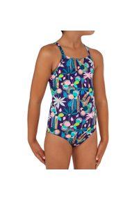 OLAIAN - Kostium Kąpielowy Jednoczęściowy Hanalei 100 June Dla Dzieci. Kolor: wielokolorowy. Materiał: poliester, elastan, poliamid, materiał