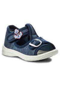 Niebieskie sandały Superfit z aplikacjami, na lato