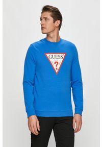 Niebieska bluza nierozpinana Guess casualowa, na co dzień