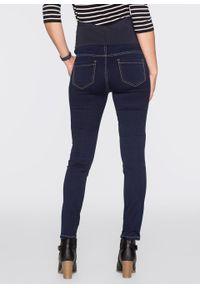 Dżinsy ciążowe SKINNY z materiału ze stretchem bonprix ciemny denim. Kolekcja: moda ciążowa. Kolor: czarny