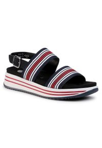 Niebieskie sandały Remonte na co dzień, casualowe
