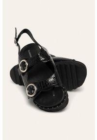 Czarne sandały Glamorous na obcasie, na średnim obcasie