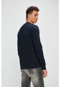 Niebieska bluza nierozpinana Jack & Jones casualowa, gładkie, bez kaptura, na co dzień #4