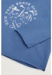 Niebieska bluza Mango Kids z kapturem, na co dzień