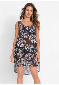 Sukienka plażowa bonprix czarno-biały. Okazja: na plażę. Kolor: czarny