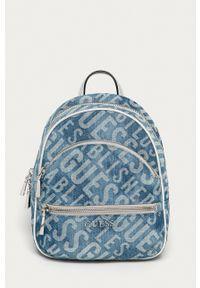 Guess - Plecak. Kolor: niebieski