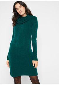 Zielona sukienka bonprix z golfem