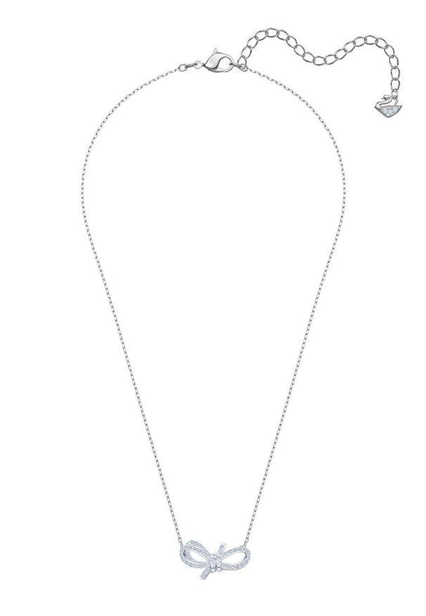 Srebrny naszyjnik Swarovski ze stali szlachetnej, z kryształem