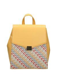 Nobo - Plecak damski żółta NOBO NBAG-I1540-C002. Kolor: żółty. Materiał: skóra ekologiczna. Styl: sportowy