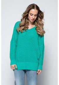 Zielony sweter oversize Fobya