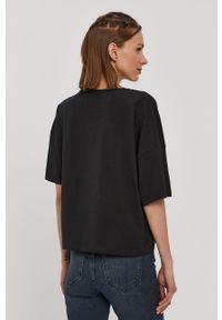 Czarna bluzka Noisy may na co dzień, z aplikacjami, casualowa