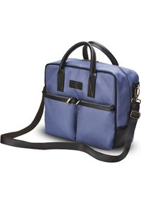 Torba Solier Torba na ramię na laptopa Cidro niebieska. Kolor: niebieski