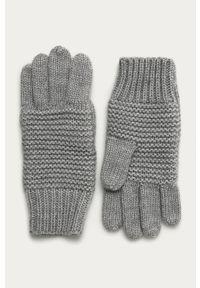 Szare rękawiczki Stefanel klasyczne