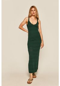 Zielona sukienka medicine casualowa, dopasowana